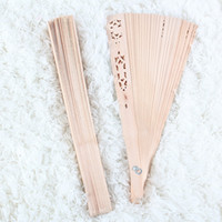 Wholesale New Fashion Vintage Portable Favor Wood Folding Hand Fans Cooling Personal Wedding Party Decoration Crafts Gift