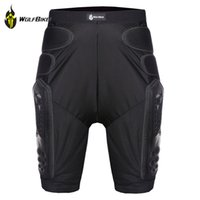 Wholesale New WOLFBIKE Hockey Motorcycle Armor Shorts Downhill Mountain Bike Skating Extreme Sport Protective Gear Hip Pad black s xl