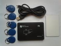 125KHz USB Contrôle d'accès à la proximité Smart rfid id Lecteur de carte et photocopieuse + 5pcs EM4350 tag + 5pcs EM4305 carte + logiciel CD