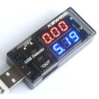 Wholesale USB Current Voltage Tester Meter USB Voltage Ammeter USB Detector Double Row Shows New
