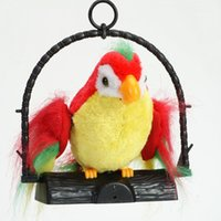 battery flap - Kids Electronic Toys Plush Talking Parrot Can Repeat What You Say While Flapping His Wings and Moving His Mouth Bird Toys cm