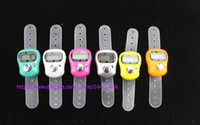 band lcd - DHL Mini Hand Hold Band Tally Counter LCD Digital Screen Finger Ring Electronic Head Count Tasbeeh Tasbih