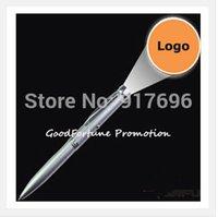 Precio de Bolígrafo de giro-Al por mayor-Nuevos del envío 1000pcs / lot de regalo del logotipo de promoción impresa proyección giro de metal bolígrafo customed