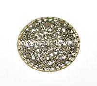Wholesale Antique Bronze Filigree Round Wraps Connectors cm quot sold per of B16292 yiwu