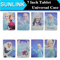Wholesale Universal Mickey Minnie Cute Cartoon Frozen Elsa Anna The Avenges Folio Folding Stand Case Cover for Inch Tablet PC Phone Hot