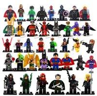 Wholesale Hot New Year Gift High Quality No Box Mini Figure avenger super hero ironman batman Flash Building Blocks toys free ship