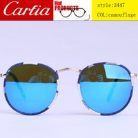 Wholesale New mirror sunglasses camouflage pattern frame sunglasses for men women poilt flyer
