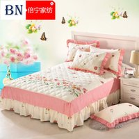 Wholesale Cotton Quilted Bedspread Bed Skirt Piece Cotton And Cotton Bed Sheets Korean m1 Meters Thick Bed Skirt Bed Cover Spread