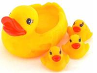 Wholesale 4pcs bag Baby Bath Water Toy toys Sounds Yellow Rubber Ducks Kids Bathe Children Swiming Beach Gifts Cute Animals Bathing Toy B0251
