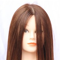 Wholesale 100 Human Hair Training Head Hairdressing Practice Training Mannequin Doll Head For Sale