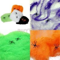 halloween cobweb - Novetly Mini Stretchable Spiderweb Cobweb Halloween Prop Party Decoration Party supply Strech to use