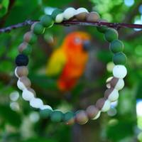 Wholesale 2015 white blue Camouflage lokai bracelet mud white and black bead Wildlife silicone clear blue camo lokai bracelets with tag