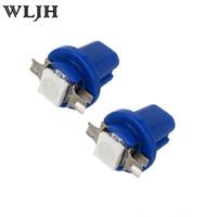 Instrument Light auto gauge cluster - WLJH Auto T5 B8 D Car Gauge SMD LED Lamp Instrument Panel Gauge Cluster Dashboard Dash Speedometer Side Bulb Colors