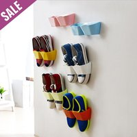 Wholesale 4 Ventilate shoe rack Plastic Wall hanging type shoe rack Storage Hanger organizer Space Saver for shoes Fast Shipping