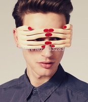 halloween decoration - Funny Finger Shape Party Glasses PC material mask For Birthday and Halloween Supplies Decoration