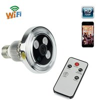 Wholesale HD P Wifi IP Camera Baby Monitor in1 LED Bulb CCTV Hidden Camera Recorder DVR Home Security For iPhone Android F4308D