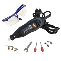Wholesale V w Variable Speed Electric Dremel Rotary Tool Mini Drill with Safety Glasses and Accessories A3