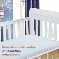 Wholesale Crib cot size baby bed waterproof mattress protector cm cm PU back breathable machine washable