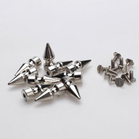 Wholesale x Cone Spikes Screw back Studs Round Base for DIY Craft Leathercraft order lt no track