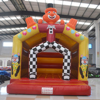 Wholesale AOQI amusement park equipment inflatable clown bouncer jumping house inflatable jumping bouncer for children inflatable toy for sale