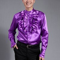 Wholesale High Quality Long sleeved Men s Shirt Male Performance Customes Royal Style Party Stage Formal Occasion Dance Shirts UA0132 kevinstyle
