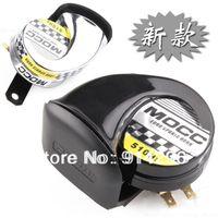 Wholesale SLIVER BLACK off road Motocross DC V motorcycle speaker Snail horn Monosyllabic Ultra sound