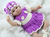 Wholesale Soft Silicone Reborn Baby Doll Baby Alive Doll Gifts For Girls Vinyl Stuffed Toys Hand Crocheted Clothes Realistic Bonecas Bebe