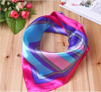 Wholesale Small silk scarf stewardess professional etiquette colored scarf printed scarves Handkerchief hotel Cravat