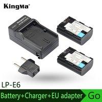 Cheap KingMa Battery+ Charger for Canon LP-E6, LP-E6N 5D Mark III 5DS 5DS R 5D Mark II 6D 7D Mark II 7D 70D 60D 60Da