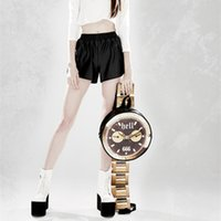artwork watches - Customized harajuku street boy and girl fashion novelty creative cross body bag vintage clock bag funny watch bag