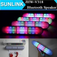 portable speaker - 2015 New Pulse Pills Led Flash Lighting JHW V318 Portable Wireless Bluetooth Speaker Bulit in Mic Handsfree speakers Support FM USB Free DHL