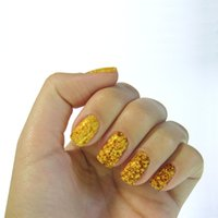 Wholesale K5639 piece contain pairs size mm Nail Art Transfer Stickers and decals gold nail stickers