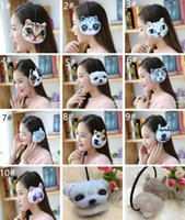 Wholesale Novelty Outdoor Cute Earcaps Backphones Warm Plush Earmuff Winter Cold Ear Cover Hats Caps Cycling Running Walking Accessories Ear Muffs