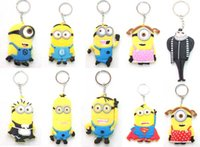 rubber keychain - Hot sale Despicable Me Minion Toy Rubber KeyChain Superman Different Style keychain
