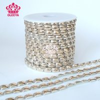 Wholesale New yards roll Rock Punk Gold Spikes Sleek Square Studs Revit Chain Gold Trimming Jewelry Sewing Accessories Bags Y2470