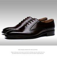 basic polish - GRIMENTIN fashion Italian luxury black polish genuine leather formal men dress shoes for wedding business basic flats size