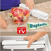 food wrap - Practical Wraptastic Food Wrap Dispenser Aluminum Foil Wax Paper Cutter EMS LJJD583