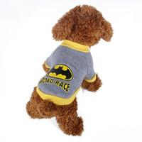apparel shops - Batman Pet Clothes Dachshund Gray Cute Dog Vest Pet Shop Dog Apparel For Cats Coat Chihuahua T Shirt For Dog Clothing