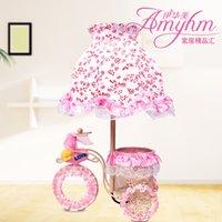 bicycle lamp shade - Lace Pink Princess Iron bicycle lamp shade cloth bedside lamp modern minimalist wedding