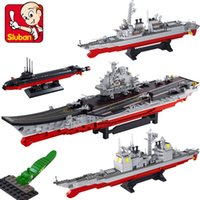 Wholesale Kids Toys Sluban Super Aircraft Carrier M38 B0388 Building Block Set DIY Kids Toys No Box