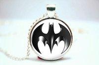 american vision - 10PCS Batman Logo Comic Pendant Necklace Glass Photo cabochon necklace vision
