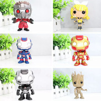 Wholesale Funko Pop Iron Man POP Ironman War Machine Vinyl Bobble Head Toys PVC Action Figure toys brinquedos Gray Super Hero
