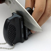 Wholesale New Mini Ceramic Rod Tungsten Steel Camp Pocket Kitchen Knife Sharpener Tool Random Color