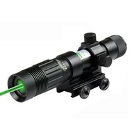 line laser - Outdoor Hunting mW Tactical Focus Adjustable Green Laser Illuminator With mm Rail Mount and Tail Line Switch