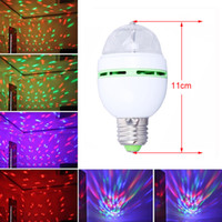 Wholesale Best LED Crystal Stage Light Auto Rotating Stage Effect DJ Led Mini Stage Light Bulb W E27 RGB lighting Full Color With Retail package