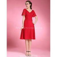 best vintage patterns - 2015 V Neck Chiffon Short Prom Dresses Cocktail Dresses With Beading Best Selling