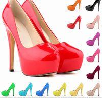 Cheap 2015Women Ladies Platform Pumps Sexy Bottom High Heels Prom Heels Wedding Dress Shoes Wedding Shoes size 3 5-42