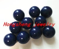 navy acrylic beads 20mm - Navy Color MM Chunky Gumball Bubblegum Acrylic Solid Beads Colorful Chunky Beads for Necklace Jewelry B34