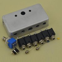 DIY 2 Loops - True Bypass guitarra pedales de aluminio Box Pedal Switch Kit perillas