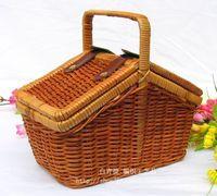 bamboo picnic basket - 1604 Bag straw bag rustic rattan portable storage box finishing box storage box storage box picnic basket